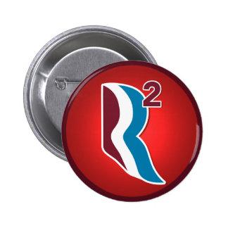 Romney Ryan R Squared Logo Round (Red) 6 Cm Round Badge