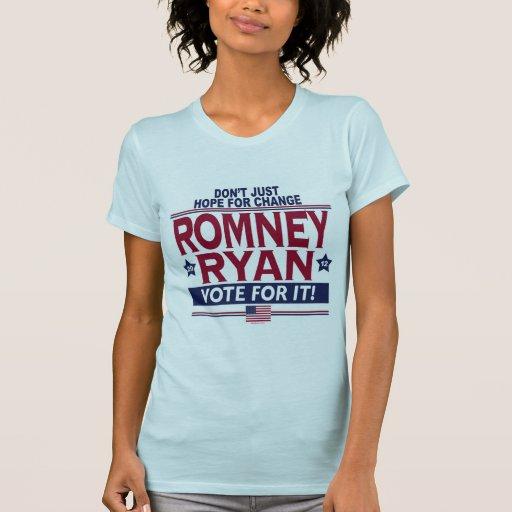 Romney Ryan Real Hope 2012 Tee Shirts