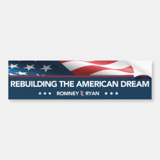 Romney Ryan Rebuilding the American Dream Bumper Bumper Sticker