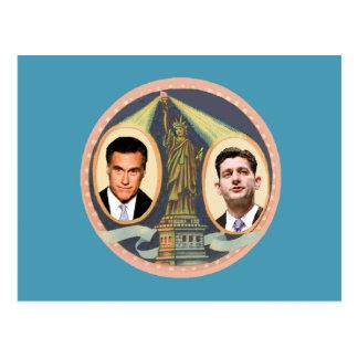 Romney Ryan Retro Postcard