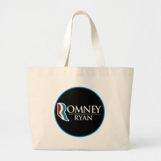 Romney Ryan Round (Black) Jumbo Tote Bag
