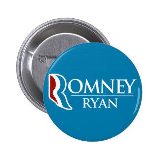 Romney Ryan Round (Light Blue) 6 Cm Round Badge