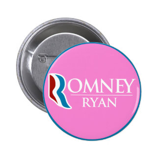 Romney Ryan Round (Pink) 6 Cm Round Badge