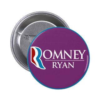 Romney Ryan Round (Purple) 6 Cm Round Badge