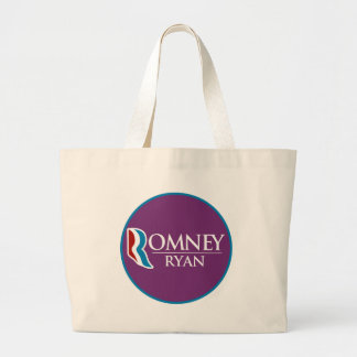 Romney Ryan Round (Purple) Jumbo Tote Bag