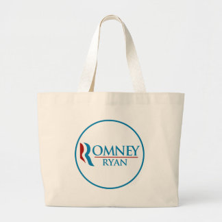 Romney Ryan Round (White) Jumbo Tote Bag