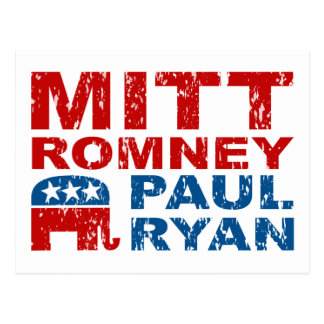 Romney Ryan Run Vote Win Postcard