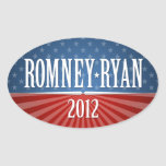 Romney Ryan - Stars and Stripes Stickers