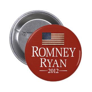 Romney Ryan USA Flag 6 Cm Round Badge