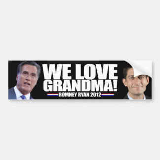 Romney - Ryan - We Love Grandma Bumper Stickers
