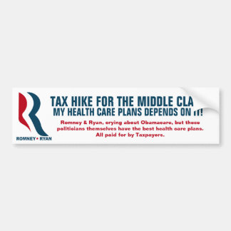 Romney - Taxing the middle-class Bumper Sticker