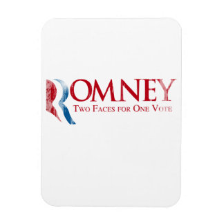 Romney - Two Faces for one Vote Faded.png Rectangular Photo Magnet