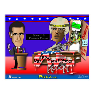 Romney vs Command O Postcard