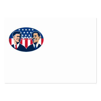Romney Vs Obama American Elections 2012 Pack Of Chubby Business Cards
