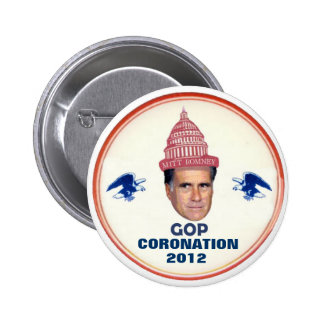 Romney wears the 2012 GOP Ccrown 6 Cm Round Badge