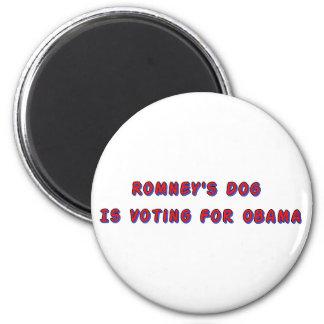 Romney's Dog 6 Cm Round Magnet