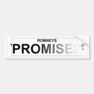 Romney's Political Promises - Fading Text Bumper Sticker
