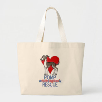 ROMP Italian Greyhound Rescue of Chicago Apparel Canvas Bag