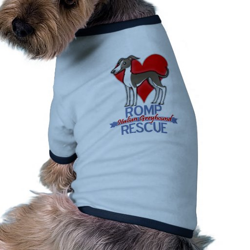 ROMP Italian Greyhound Rescue of Chicago Apparel Doggie Tee Shirt