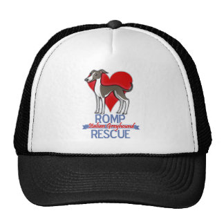 ROMP Italian Greyhound Rescue of Chicago Apparel Hats