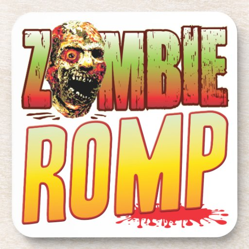 Romp Zombie Head Beverage Coasters