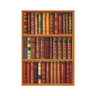 "rompe l'oeil ""French library"". Canvas Print"
