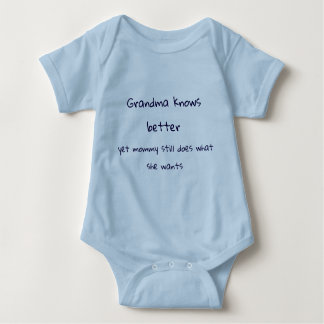 Romper Grandma knows better blue Baby Bodysuit