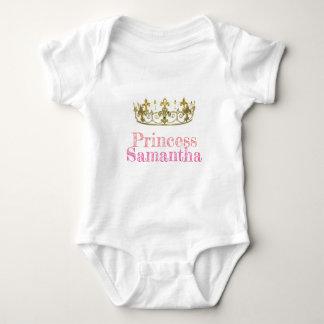 Romper Princess Samantha. (Bewerkbaar) Baby Bodysuit