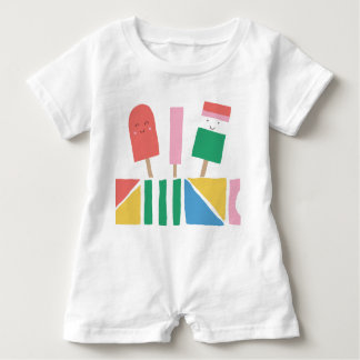 Romper with Popsicles Summer Baby Fun Baby Bodysuit