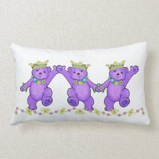 Romping Princess Teddy Bears Pillow