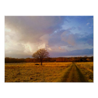 Romsey Big Skies Photography Poster