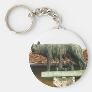 Romulus and Remus - Ancient Rome Basic Round Button Key Ring