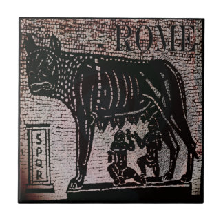 Romulus and Remus Small Square Tile
