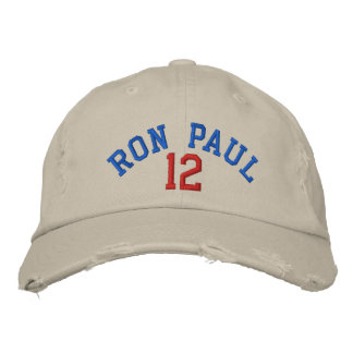 RON PAUL '12 Distressed Chino Twill Cap Embroidered Baseball Caps
