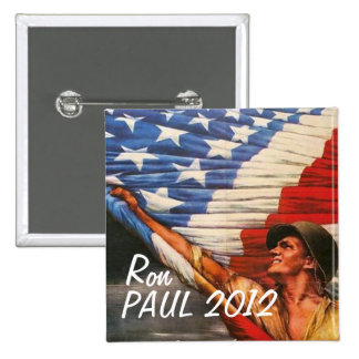 Ron Paul 2012 15 Cm Square Badge