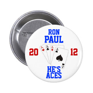 Ron Paul 2012 Aces 6 Cm Round Badge