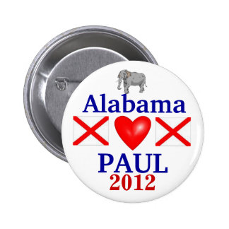 Ron Paul 2012 Alabama 6 Cm Round Badge
