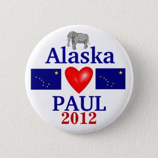 Ron Paul 2012 Alaska 6 Cm Round Badge