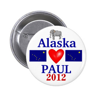 Ron Paul 2012 Alaska 6 Cm Round Badge