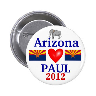 Ron Paul 2012 Arizona 6 Cm Round Badge
