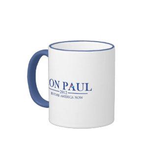 Ron Paul 2012 (blue) Ringer Mug