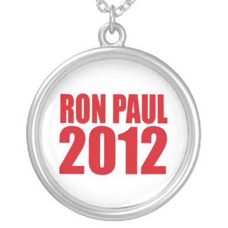 RON PAUL 2012 (Bold) Round Pendant Necklace