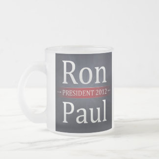 Ron Paul 2012 Campaign Coffee/Tea Cup Frosted Glass Mug
