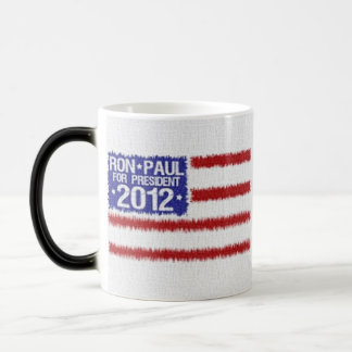 Ron Paul 2012 Campaign Coffee/Tea Cup 11 Oz Magic Heat Color-Changing Coffee Mug
