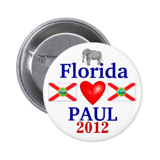 Ron Paul 2012 Florida 6 Cm Round Badge
