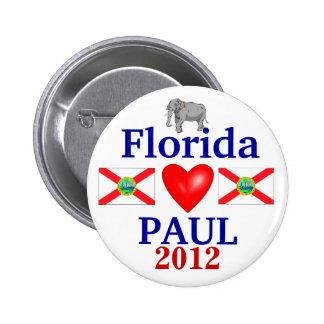 Ron Paul 2012 Florida 6 Cm Round Badge