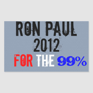 Ron Paul 2012, For The 99% Rectangular Sticker