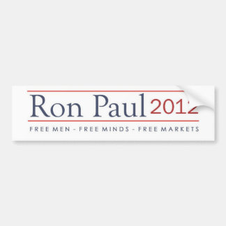 Ron Paul 2012 Free Men Free Minds Free Markets Bumper Sticker