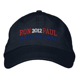 RON PAUL 2012 IN GOD WE TRUST Ladies Cap Embroidered Baseball Cap