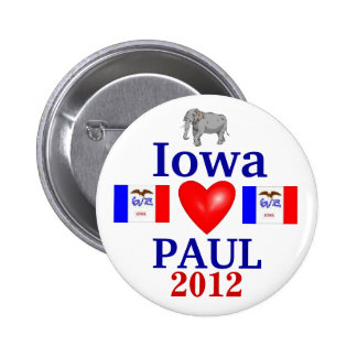 ron paul 2012 Iowa 6 Cm Round Badge